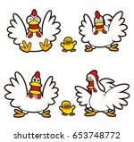 chicken character | Shutterstock . vector #653748772