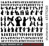 hundreds detailed people... | Shutterstock .eps vector #65375260