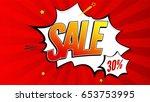 sale pop art splash background  ...   Shutterstock .eps vector #653753995