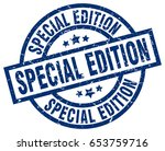 special edition blue round... | Shutterstock .eps vector #653759716
