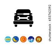 car workshop icon | Shutterstock .eps vector #653762392