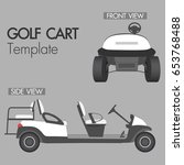 golf cart 4 seat template vector | Shutterstock .eps vector #653768488