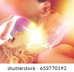 romantic style portrait of a... | Shutterstock . vector #653770192