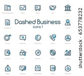 business line icons set with... | Shutterstock .eps vector #653778232