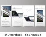 flyers set  modern banners.... | Shutterstock .eps vector #653780815