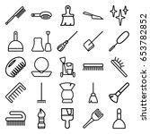 brush icons set. set of 25... | Shutterstock .eps vector #653782852
