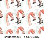 hand drawn vector abstract... | Shutterstock .eps vector #653789302