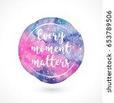 watercolor vector handmade blot ...   Shutterstock .eps vector #653789506