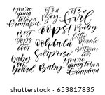 collection of baby's phrases....   Shutterstock .eps vector #653817835