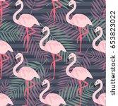 tropical trendy seamless...   Shutterstock .eps vector #653823022