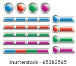 website design buttons | Shutterstock .eps vector #65382565