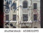 Vandal Graffiti On The Window...