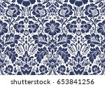 seamless floral pattern in the... | Shutterstock . vector #653841256