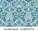 seamless floral pattern in the... | Shutterstock . vector #653841376