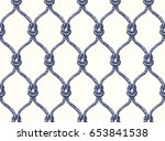 rope seamless tied fishnet... | Shutterstock . vector #653841538