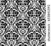 seamless floral pattern in the... | Shutterstock . vector #653841592