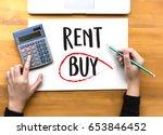 buy not rent  concept. choosing ... | Shutterstock . vector #653846452