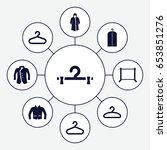 coat icons set. set of 9 coat...   Shutterstock .eps vector #653851276