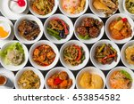 group picture of chinese cuisine | Shutterstock . vector #653854582