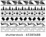 set of black borders with... | Shutterstock . vector #65385688