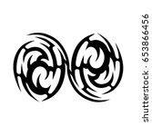 tribal tattoo art designs.... | Shutterstock .eps vector #653866456