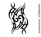 tattoo tribal vector design.... | Shutterstock .eps vector #653866462