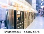 blurred background retail store ... | Shutterstock . vector #653875276