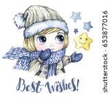 winter holidays illustration.... | Shutterstock . vector #653877016