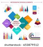 infographics design elements... | Shutterstock .eps vector #653879512