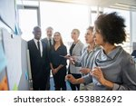 business team brainstorming in...   Shutterstock . vector #653882692