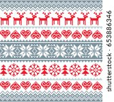 winter  christmas red and grey...   Shutterstock .eps vector #653886346