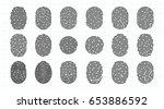 vector fingerprint icons set ... | Shutterstock .eps vector #653886592