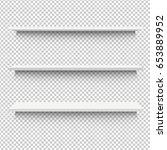white shelf  vector illustration | Shutterstock .eps vector #653889952