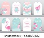 set of design templates for... | Shutterstock .eps vector #653892532