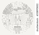 classic wedding invitation... | Shutterstock .eps vector #653895832