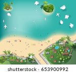 islands top view   travel  with ... | Shutterstock .eps vector #653900992