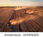 aerial view of combine...   Shutterstock . vector #653906302