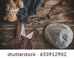 flat lay photography of boy's... | Shutterstock . vector #653912902
