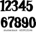 grunge numbers   Shutterstock .eps vector #653915146