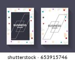 vector cover and frame template.... | Shutterstock .eps vector #653915746