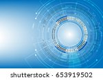 vector communication concept... | Shutterstock .eps vector #653919502