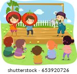 illustration of stickman kids... | Shutterstock .eps vector #653920726