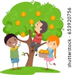 illustration of stickman kids... | Shutterstock .eps vector #653920756