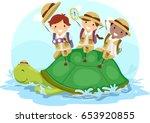 illustration of stickman kids... | Shutterstock .eps vector #653920855