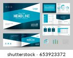 business brochure design... | Shutterstock .eps vector #653923372