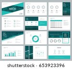 business presentation design... | Shutterstock .eps vector #653923396
