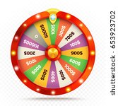 realistic retro spinning wheel... | Shutterstock .eps vector #653923702