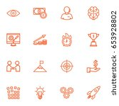 set of 16 idea outline icons...   Shutterstock .eps vector #653928802