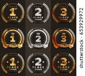 1st  2nd  3rd place logo's with ... | Shutterstock .eps vector #653929972