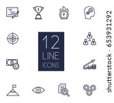 Set Of 12 Idea Outline Icons...